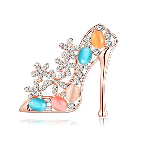 LLJY Rhinestone Esmalte Zapatos De Tacones Altos Broches Pin Novedad Joyería para...