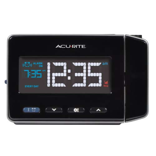 AcuRite 13021 Atomic Projection Alarm Clock with USB Charging