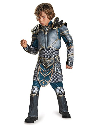 Lothar Classic Muscle Warcraft Legendary Costume, Large/10-12