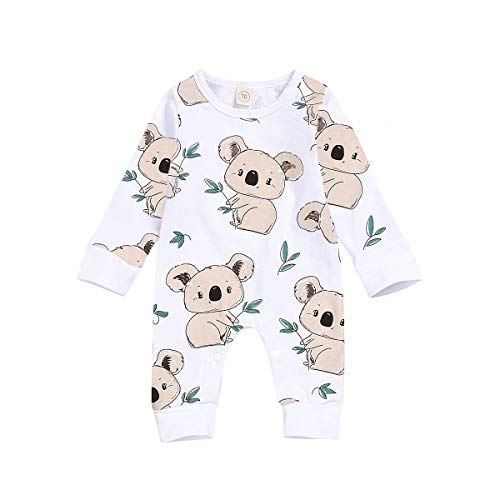 JELLYKIDS Baby Hoodie Romper Newborn Baby Boy Girl Long Sleeve Cartoon Animal Print Zipper One Piece Jumpsuit with Tail