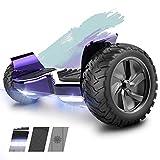 HITWAY Hoverboard Gyropode Tout Terrain SUV Scooter Board Scooter électrique Self-Balance E-Skateboard Haut-Parleur Bluetooth, Moteur 350W * 2, LED pour Adolescents et Adultes