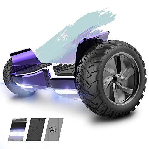 HITWAY All Terrain SUV Hoverboard Elektro Scooter Self-Balance E-Skateboard Bluetooth Lautsprecher, 350W*2 Motor, LED, für Jugendliche und Erwachsene