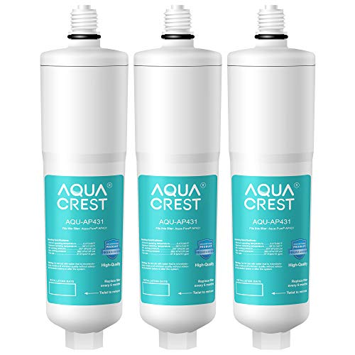 AQUACREST AP431 Cartridge, Replacement for Aqua-Pure Whole House Scale Inhibition Inline Water System AP430SS, Helps Prevent Scale Build Up On Hot Water Heaters and Boilers (Pack of 3)