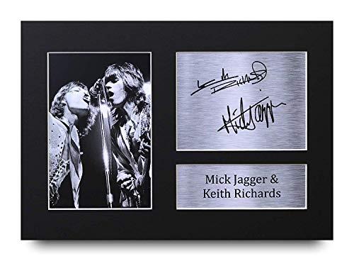 HWC Trading Mick Jagger & Keith Richards A4 Ungerahmt Signiert Gedruckt Autogramme Bild Druck-Fotoanzeige Geschenk Für Rolling Stones Musik-Fans