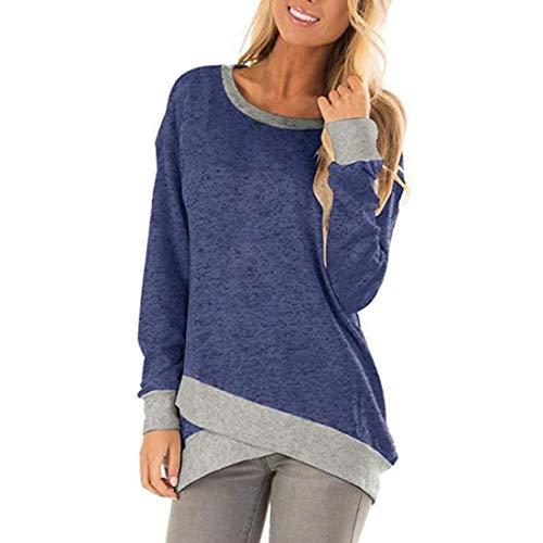 Damen Pullover Sweatshirts Lange Ärmel Color Matching Frühling, Sommer und Herbst...