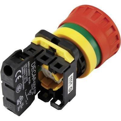 Deca A20B-V4E11R Not-Aus-Schalter mit Kontaktelement 240 V/AC 6 A 1 Schließer, 1 Öffner IP65 1 St.