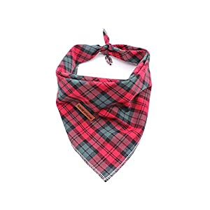 Elegant little tail 1PCS Pet Dog Bandana Washable Reversible Cotton Bibs Scarf, Adjustable Square Dog Kerchief for Small to Large Dogs and Cats