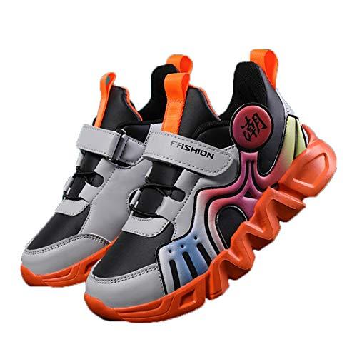 Zapatillas de Deporte para niños Color Mixto Transpirables Ligeras Bajas Zapatillas para niños Suela Suave Antideslizante Deportivas Zapatillas para Correr Casuales