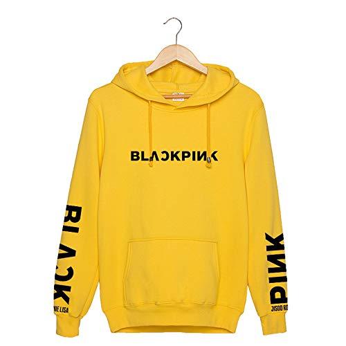 Blackpink Sudadera con Capucha KPOP Pullover Hip Hop Sudadera para Hombres Mujeres