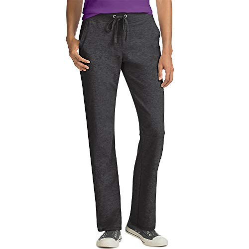 Hanes Women's French Terry Pant, Charcoal Heather, X-Large