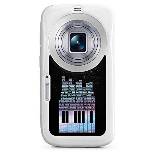 DeinDesign Cover kompatibel mit Samsung Galaxy K Zoom Hülle Silikon Hülle Schutz Piano Klavier Klaviertasten