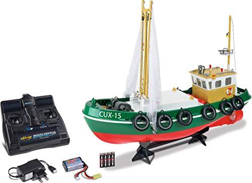 Carson Fischkutter Cux-15 2.4G 100{7746cad193c0677256ae66aaf5eea483a0f3339d5f83ee14b5da8d593fa8d95c} RTR, Ferngesteuertes, RC Boot, mit Funktionen, inklusive Fernsteuerung, Sicherheitsschaltung, 500108031