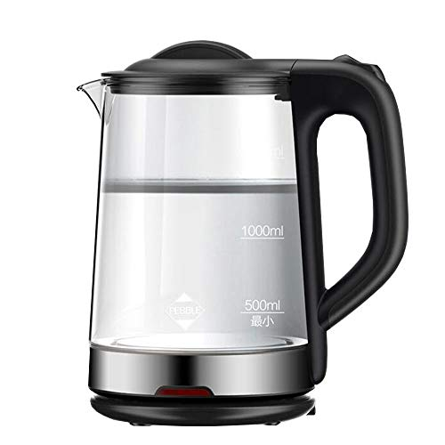 Electric Kettles LIANG, 1.7L BPA-Free GlassKettleTeaHeater, HotWaterBoilerWithLEDLight, Auto Shut-Off&Boil-Dry Protection,StainlessSteelInnerLid & Bottom,1800W,