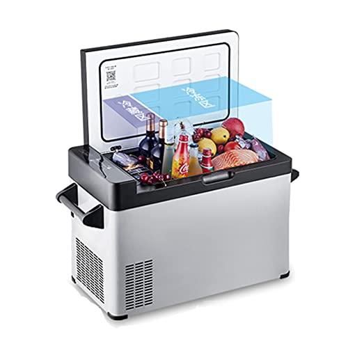 Nevera de Coche 60L Mini refrigerador de Coche, -25 ℃ -20 ℃ Bajo Consumo Camiones y Barcos Congelador Frigorífico (Color : 220v)