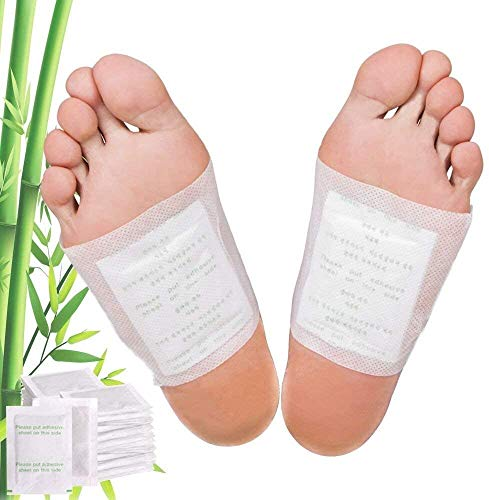 Detox Fußpflaster 30 Stück - Entgiftung Pflaster Fuss, Bambus, Turmalin, Wellness-Kur, Körper entgiften, Abnehmen, Gesundheit, Schlaffördernd