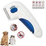 GNNMOY Flea Comb for Pets - Head Lice Removal Pet Cleaning As Seen On TV Electronic Comb for Dogs and Cats,...
