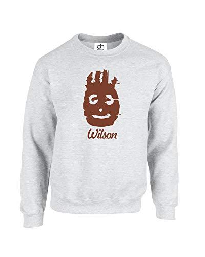 D&H CLOTHING UK Wilson Volleyball Mr.Wilson Funny Cast Away Inspired Tom Hanks Fashion Blogger Collage Swag Top Humor Witz Geschenk Unisex Fashion Model Jumper Sweatshirt Pullover Gr. XS, grau