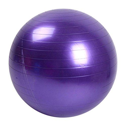 Rtengtunn 45cm Tamaño Fitness Ejercicio Entrenamiento Balance Yoga Clase Gym Ball Core Gymball PVC - Púrpura