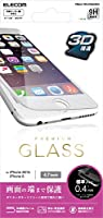 ELECOM iPhone6s/6用液晶保護ガラス フレーム付 ホワイト クリーニングクロス付 PMCA15FLPGGOWH PMCA15FLPGGOWH