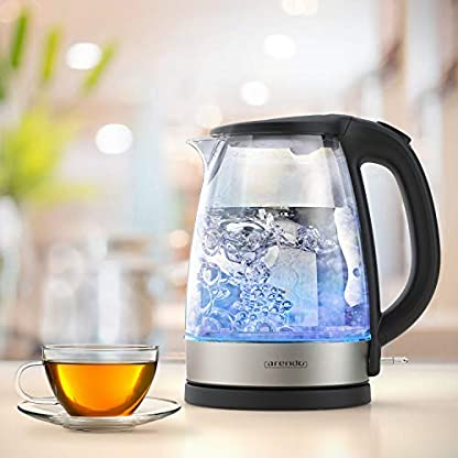 Arendo-Glas-Wasserkocher