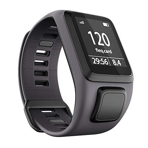 ANBEST Kompatibles mit Tomtom Runner 3 Armband, Umweltschutz TPU Band für Tomtom Spark 3, Runner 2, Golfer 2, Adventurer Smart Watches(Grau)