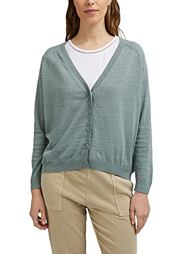 ESPRIT Leinen/Organic Cotton: V-Neck Cardigan