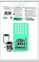 日本サニパック 分別ペールポリ15L半透明 30枚 まとめ買い(×5)