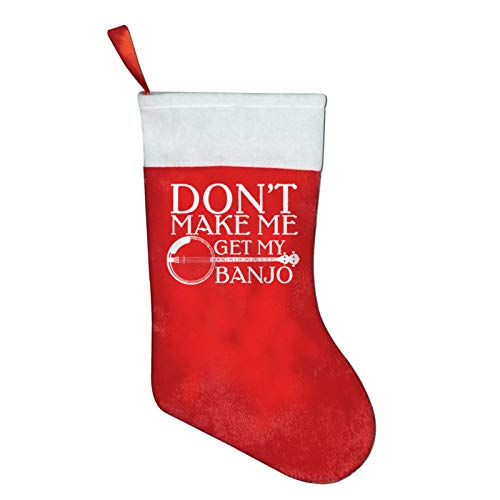 Negi Don't Make Me Get My Banjo Classic Xmas Stocking for Holiday Decorations