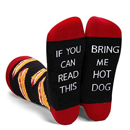 Funny Saying If You Can Read This Bring Me Hot Dog Socks Gifts For Women