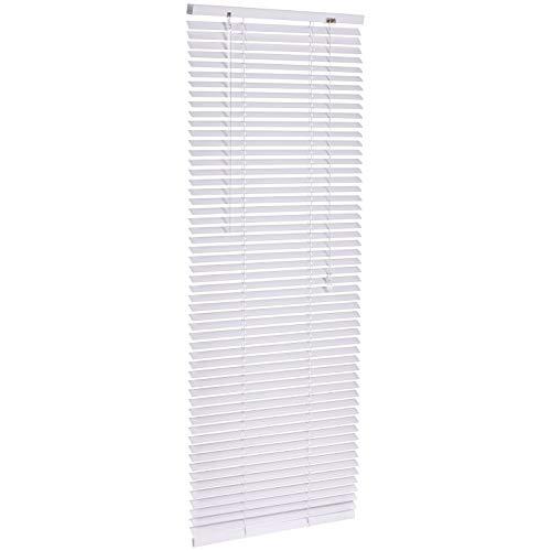 Amazon Basics - Jalousie, Aluminium, 50 x 130 cm, Weiß