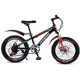 Bicicletas Triciclos Niños De 18 Pulgadas Niños Plegable para Niños Montaña con Doble Amortiguación Velocidad De 21 Velocidades