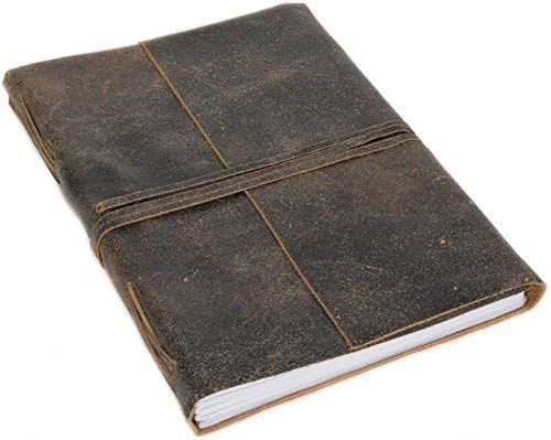 Notizbuch Notizheft Skizzenbuch Gästebuch DIN A4 Braun Leder