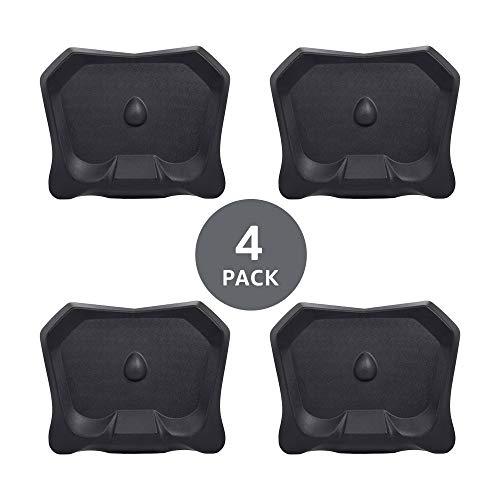 Amazon Basics Non-Flat Standing Desk Anti-Fatigue Mat, Black, 4-Pack