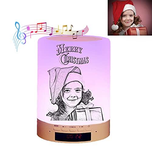 Luz Personalizada De La Noche Del Bebé De La Luz Del Nombre De La Luz De La Foto De La Música De Bluetooth(bosquejo 9.5*13.5 cm)