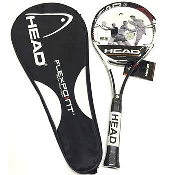 VAN+raqueta de tenis de carbono raquetas con bolsa de tenis Grip hombres mujeres entrenamiento principiantes padel raqueta de tenis negro