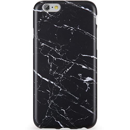 VIVIBIN iPhone 6 Case,iPhone 6s Case,Cute Black White Marble Women Girls Clear Bumper Soft Silicone Rubber Matte TPU Best Protective Cover Slim Fit Phone Case iPhone 6/iPhone 6s
