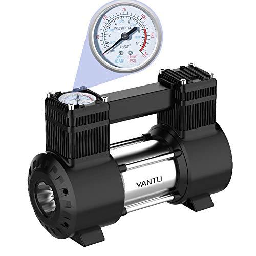 LWH Auto Luftpumpe High Power Mechanische Uhr Autoreifen Autozubehör 12V Tragbare Elektrische Luftpumpe, Mechanische Uhr 12V