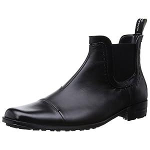 [キャサリンハムネットロンドン] ビジネスシューズ サイドゴアレインブーツ 31999 メンズ ブラック 25 cm