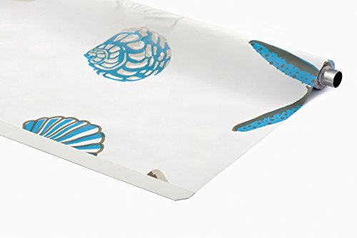 KS Handel 24 ERSATZROLLE HALB-Kassetten DUSCHROLLO Oceanic Design 140x240 cm EINFACHER WECHSEL