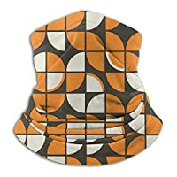 ミッドセンチュリーモダンジオメトリックオレンジ 暖かいスカーフバンダナ マジックスカーフ 暖かいターバン ネックウォーマー アウトドア スポーツ ユニセックス用