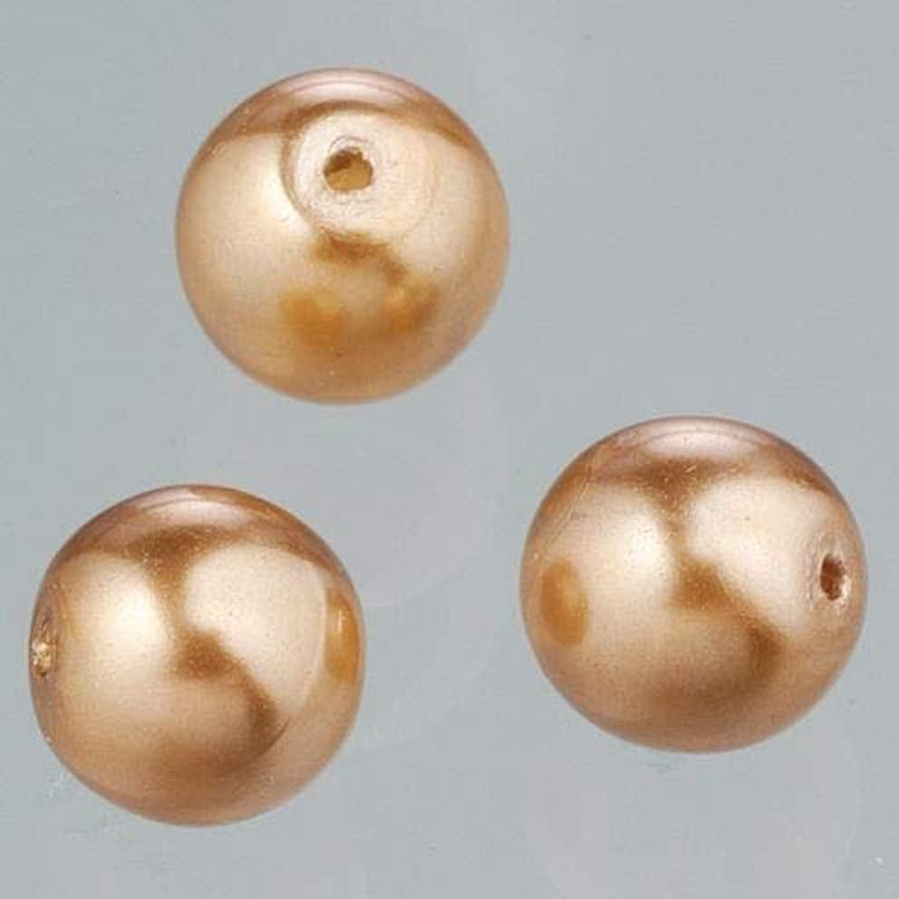 Efco Glass Wax Beads Luster 8 mm 20 pcs. Brown, 3 x 3 x 2 cm
