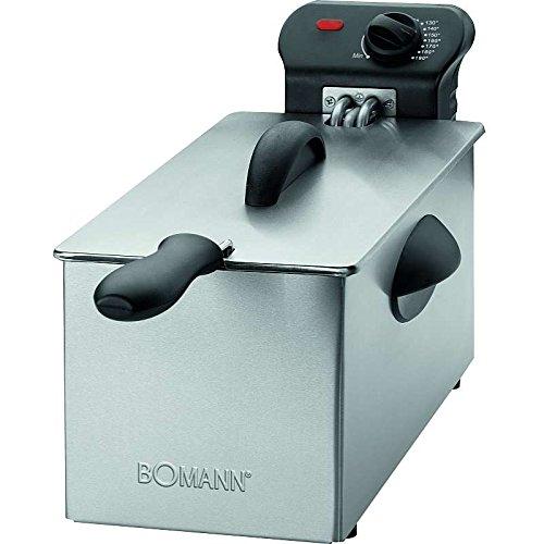 Edelstahl Fritteuse mit 2000 Watt (Kaltzonentechnik 3 Liter + Direkt im Fett befindliche Heizspirale zum geruchsarmen frittieren Friteuse)