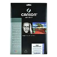 Legion Canson Infinity デジタル用紙 ラグフォトグラフィーク 310G 8.5 X 11インチ 10枚 (F11-RPH310851110)