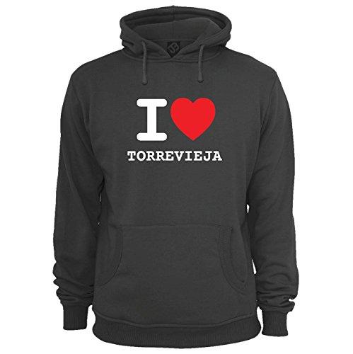 JOllify Unisex Pullover TORREVIEJA H3659 - Farbe: schwarz - Design 1: I Love - Ich Liebe - Größe XXXL 3XL