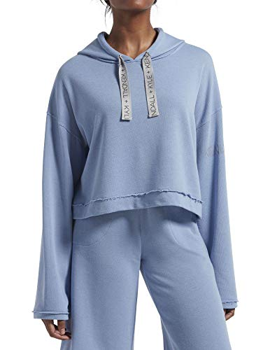 KENDALL + KYLIE Women's Lounge Cropped Hoodie, English Manor, Large