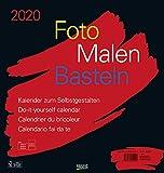 Foto-Malen-Basteln Bastelkalender schwarz groß 2020: Fotokalender zum Selbstgestalten. Do-it-yourself Kalender mit festem Fotokarton. Format: 45,5 x 48 cm - Korsch Verlag