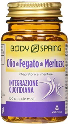 BODY SPRING Olio di Fegato di Merluzzo, 100 Capsule Molli