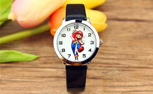 QIMA Reloj Super Mario Nuevo Reloj de Dibujos Animados de Su