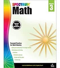 Reinforce your child's third-grade skills with Spectrum Math Addition, subtraction, fractions, data, multiplication Chapter pretests and posttests Mid-Tests, and Final Tests 160 pages