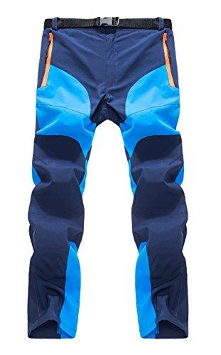 GITVIENAR Pantalon Étanche Hommes Été Pantalons Hydrofuge Coupe-Vent à Séchage Rapide pour Camping et Randonnée Pêche Escalade en Plein Air